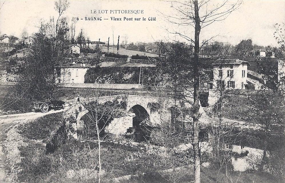 Le pont médiéval à Bagnac-sur-Célé