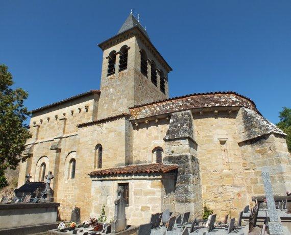 Église Saint-Pierre à Fourmagnac dans le Lot