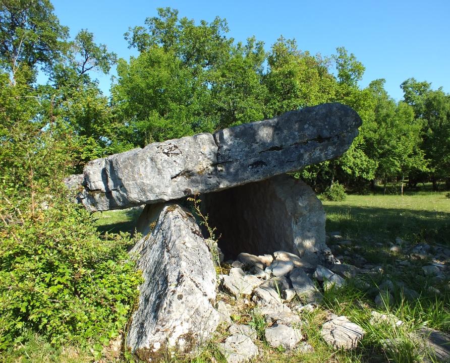 Circuits randonnée pédestre - Grèzes - Circuit Le Sentier des Causses - 10km (le dolmen du cloup des Périès à Grèzes)