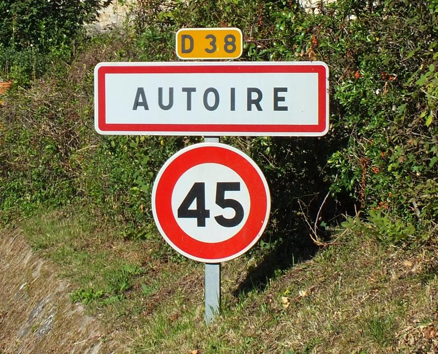 Communes - Autoire - - Panneau du village de Autoire