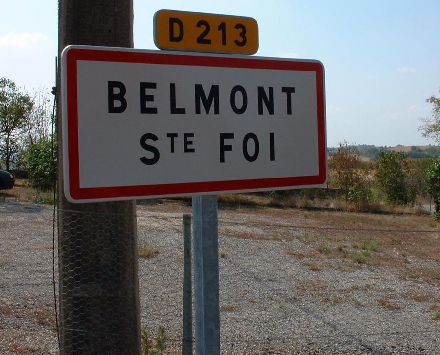 Communes - Belmont-Sainte-Foi - - Panneau du village de Belmont-Sainte-Foi
