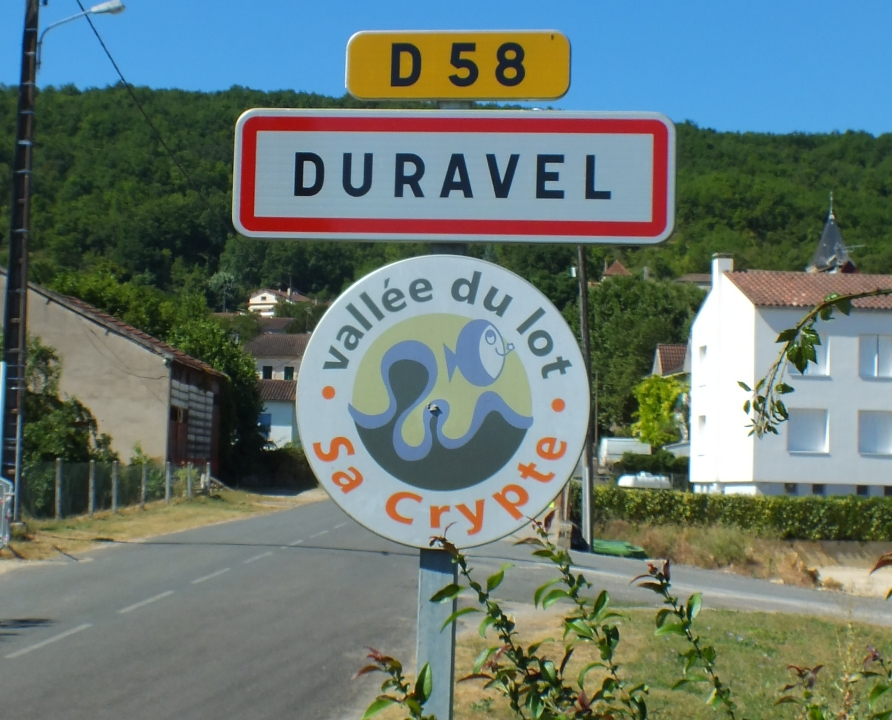 Communes - Duravel - - - Panneau du village de Duravel