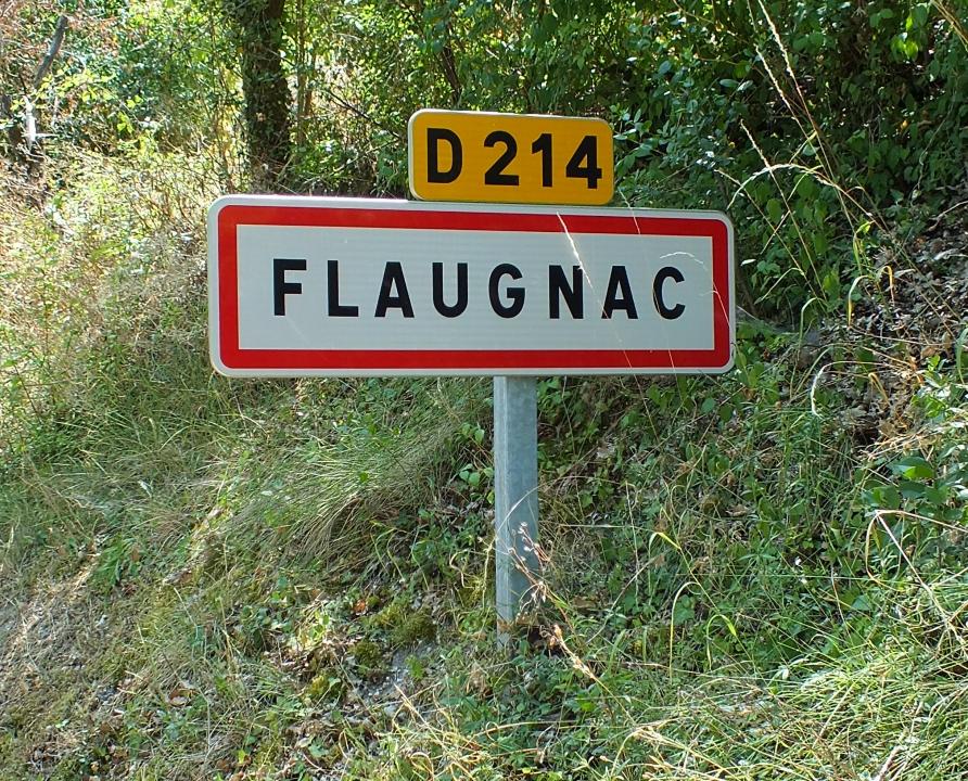 Communes - Flaugnac (Saint-Paul-Flaugnac) - - - Panneau du village de Flaugnac (Saint-Paul-Flaugnac)