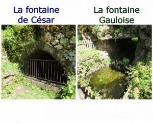 Fontaines & Puits - Capdenac - Fontaine Gauloise & Fontaine de César (Chemin des Fontaines) -