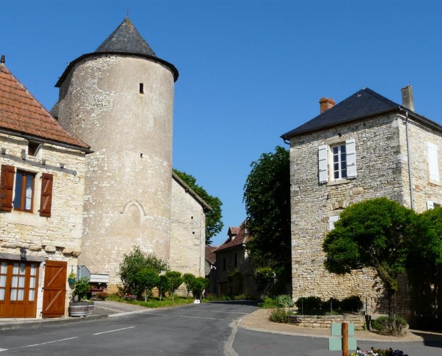 Circuits randonnée pédestre - Thédirac - La croze del Cat - 13km (le bourg de Thédirac)