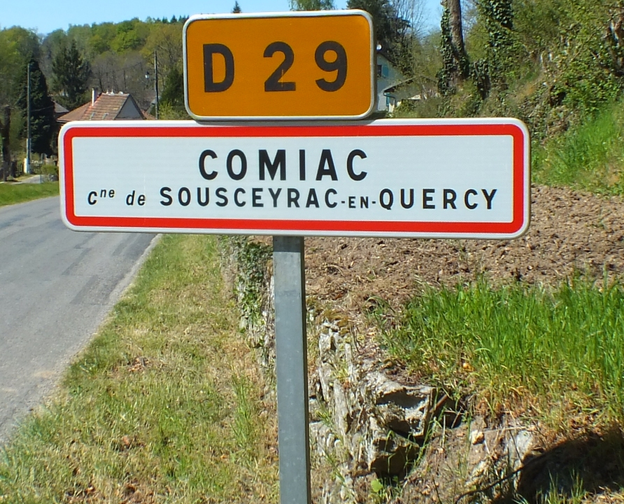 Communes - Comiac (Sousceyrac-en-Quercy) - - Panneau du village de Comiac (Sousceyrac-en-Quercy)