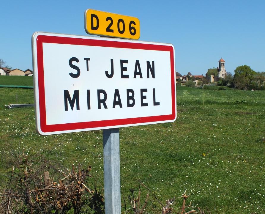 Communes - Saint-Jean-Mirabel - - Panneau du village de Saint-Jean-Mirabel
