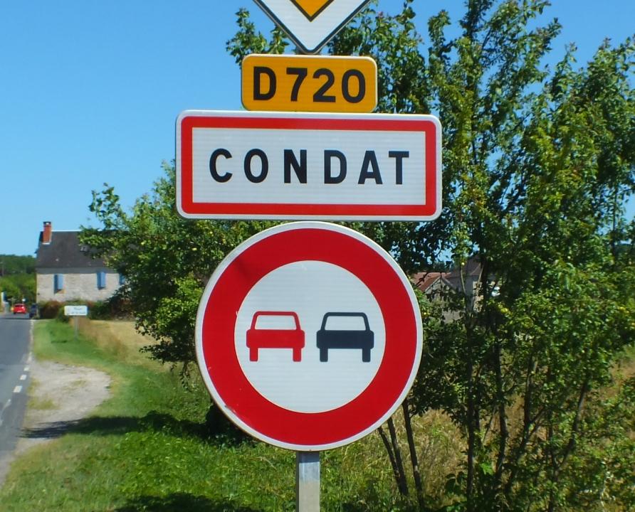 Communes - Condat - - Panneau du village de Condat