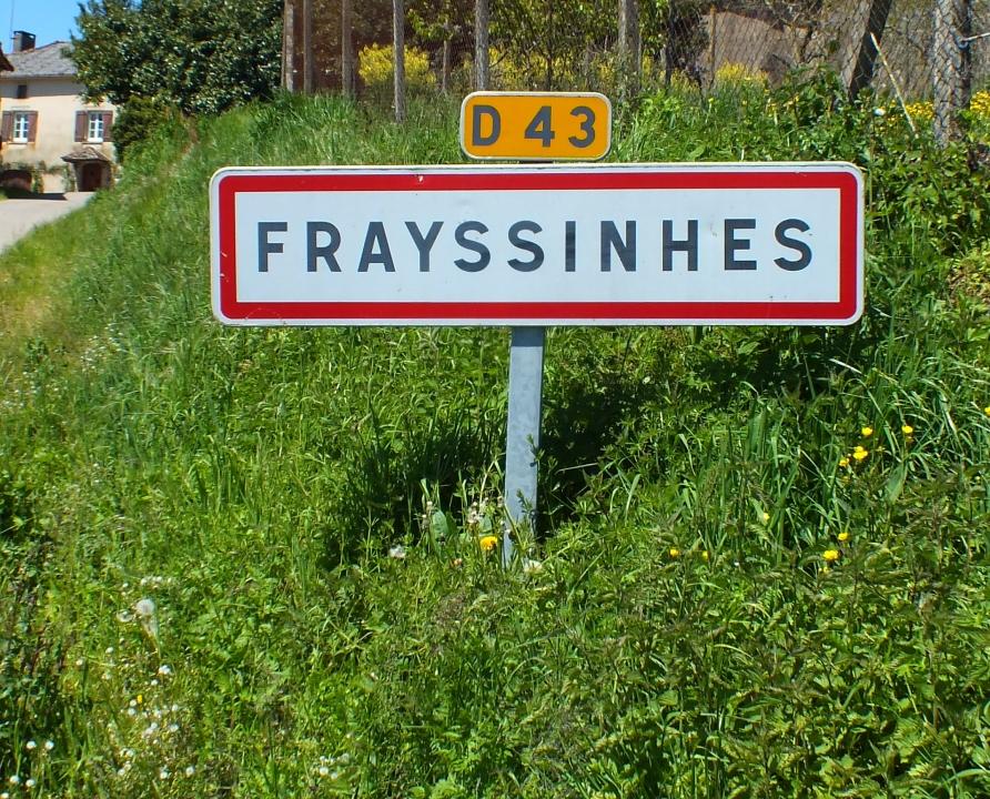 Communes - Frayssinhes - - Panneau du village de Frayssinhes