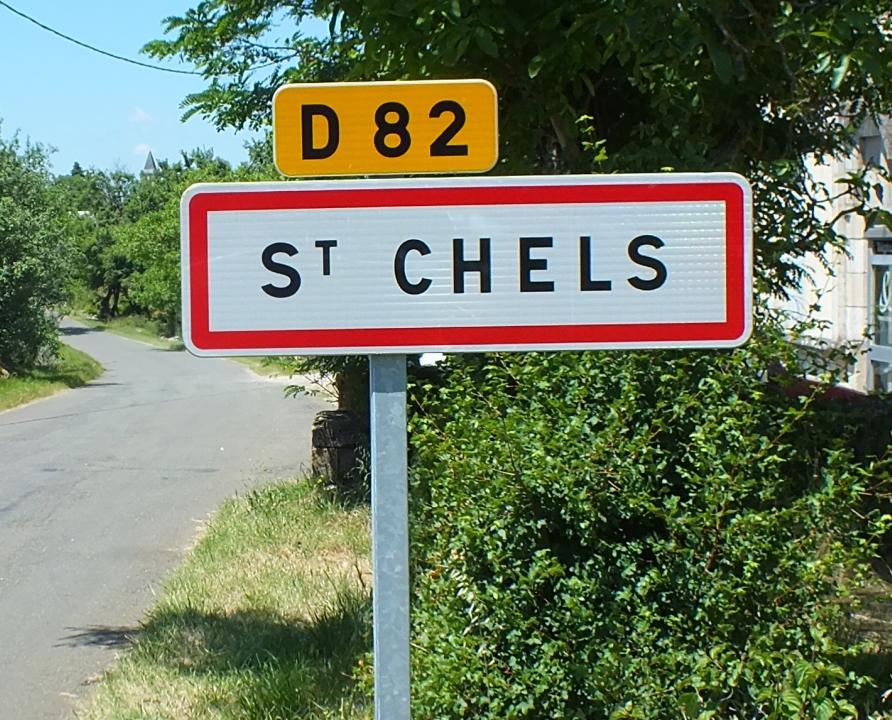 Communes - Saint-Chels - - Panneau du village de Saint-Chels