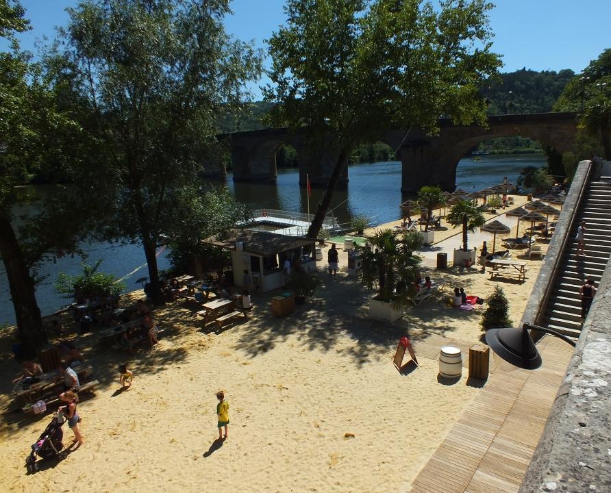Baignade en eau douce - Cahors - Cahors-plage (baignade dans le Lot) -
