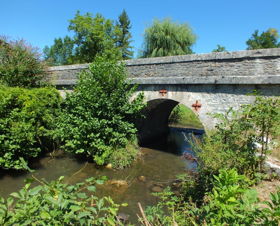 Ponts & Viaducs - Lavergne - Pont de la RD36 sur l'Alzou (Larroque) -