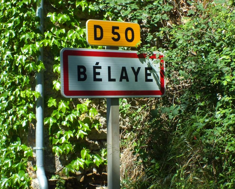 Communes - Bélaye - - Panneau du village de Bélaye