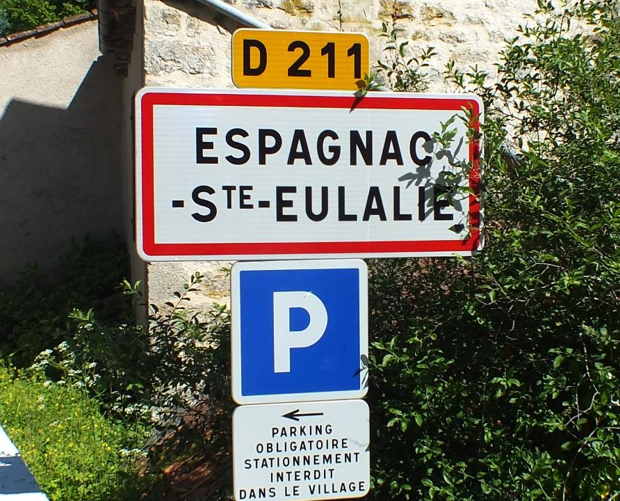 Communes - Espagnac-Sainte-Eulalie - - Panneau du village de Espagnac-Sainte-Eulalie