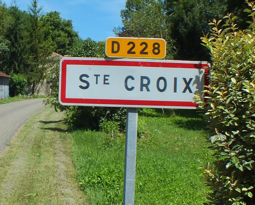 Communes - Sainte-Croix - - - Panneau du village de Sainte-Croix