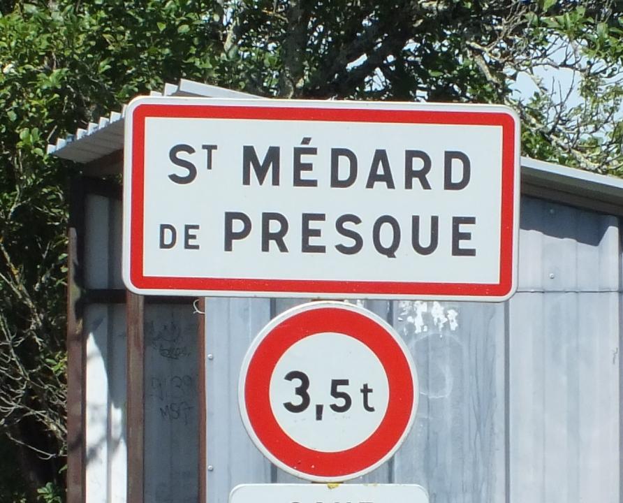 Communes - Saint-Médard-de-Presque - - Panneau du village de Saint-Médard-de-Presque