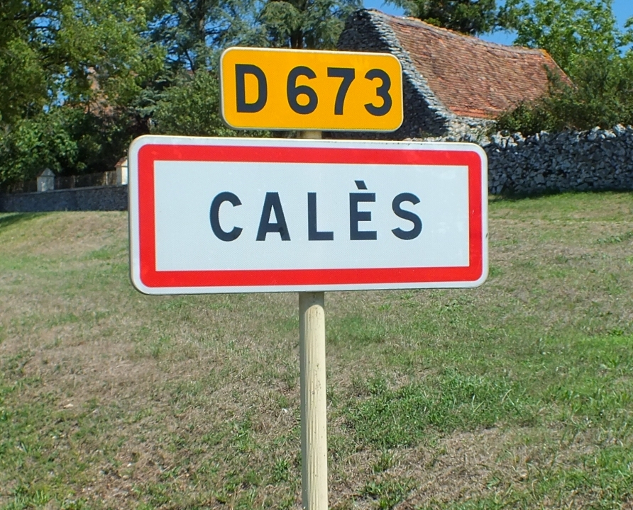 Communes - Calès - - Panneau du village de Calès