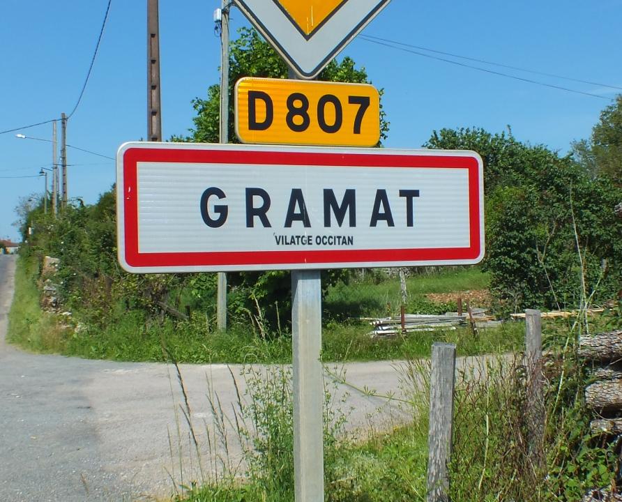 Communes - Gramat - - Panneau du village de Gramat