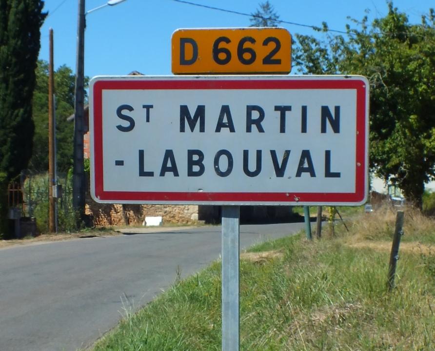 Communes - Saint-Martin-Labouval - - Panneau du village de Saint-Martin-Labouval