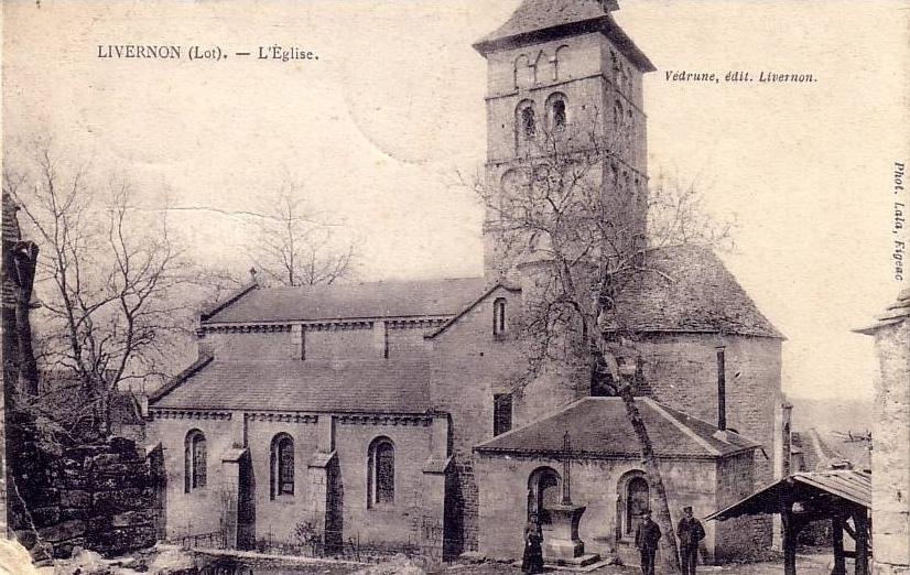LOT'refois - CPA - début XXe - Livernon - Église Saint-Remy