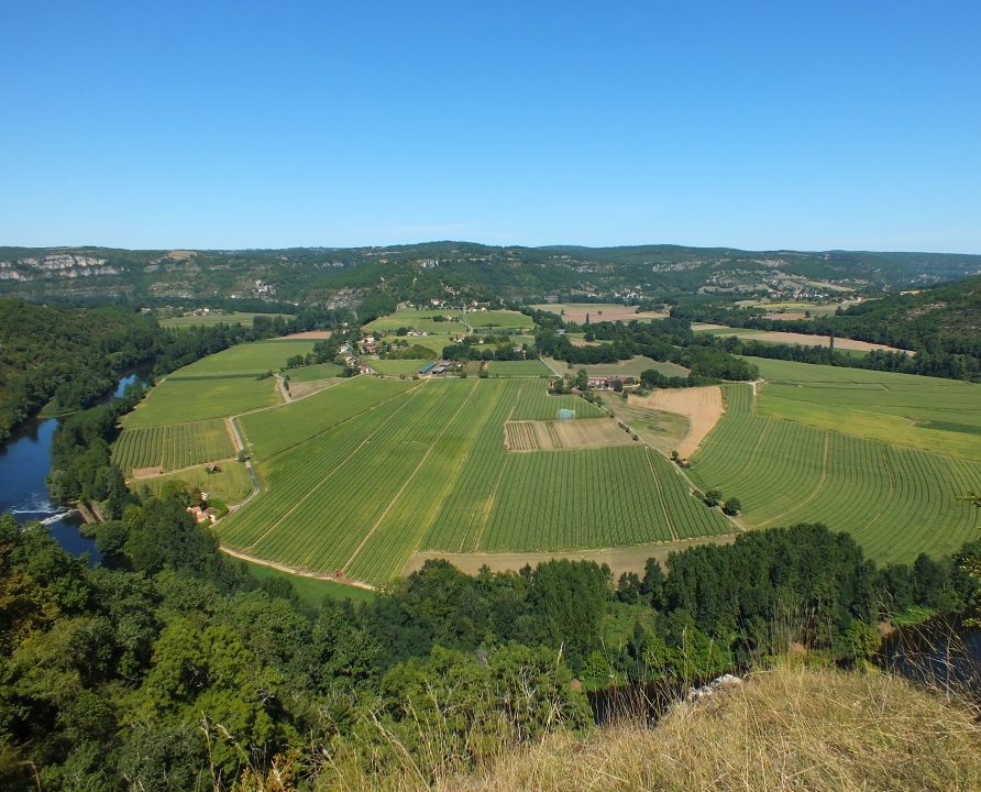 Points de vue - Montbrun - Le cingle de Caillac depuis le Saut de la Mounine -