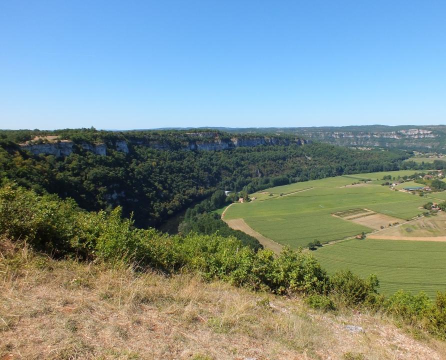 Points de vue - Montbrun - Le cingle de Caillac depuis l'aire d'envol d'Ambayrac (Aveyron) -