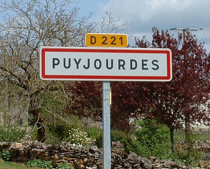 Communes - Puyjourdes - - Panneau du village de Puyjourdes