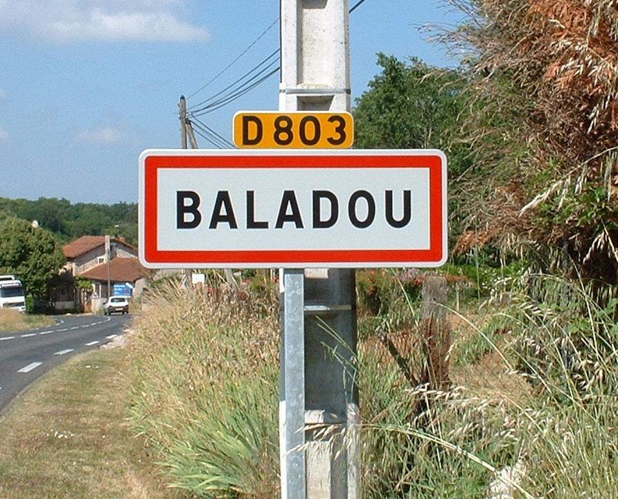 Communes - Baladou - - Panneau du village de Baladou