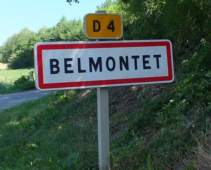 Communes - Belmontet (Montcuq-en-Quercy-Blanc) - - Panneau du village de Belmontet