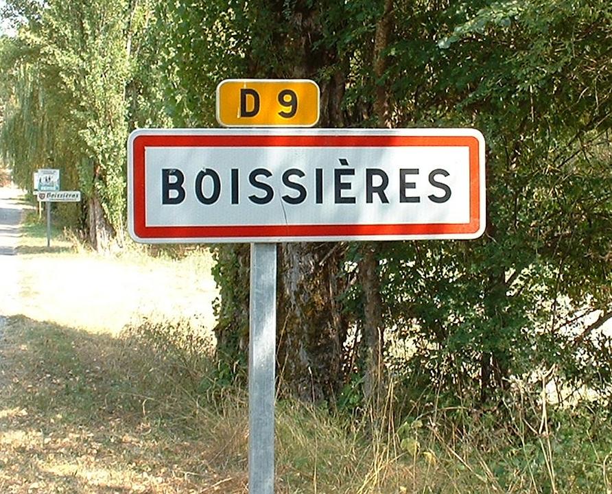 Communes - Boissières - - Panneau du village de Boissières