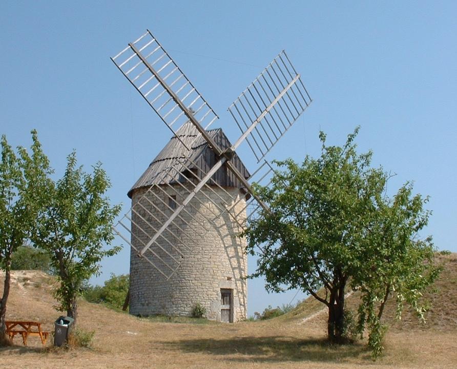 Moulin à vent - Castelnau-Montratier (Castelnau Montratier-Sainte Alauzie) - Moulin à vent de la Mairie (ou de La Malaudie) -