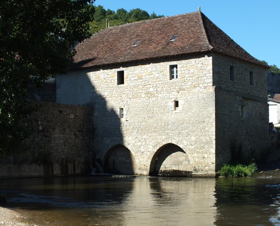 Moulin à eau - Cabrerets - Moulin à eau du Château (bourg) -