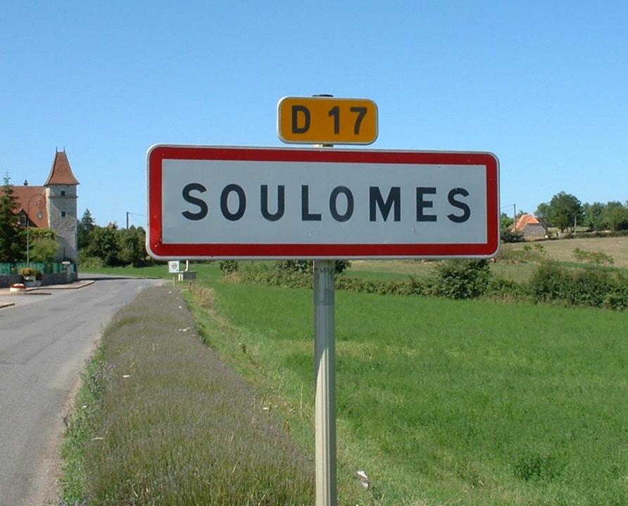 Communes - Soulomès - - Panneau du village de Soulomès