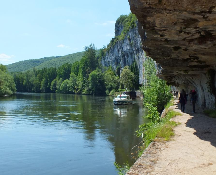 Circuits randonnée pédestre - Bouziès - Sur les traces d'André Breton - 8km (chemin de halage)