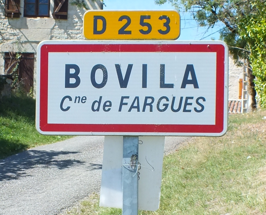 Communes - Fargues - - Panneau du village de Fargues