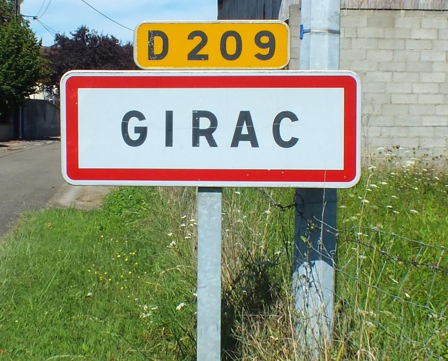 Communes - Girac - - Panneau du village de Girac