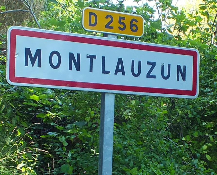 Communes - Montlauzun - - Panneau du village de Montlauzun