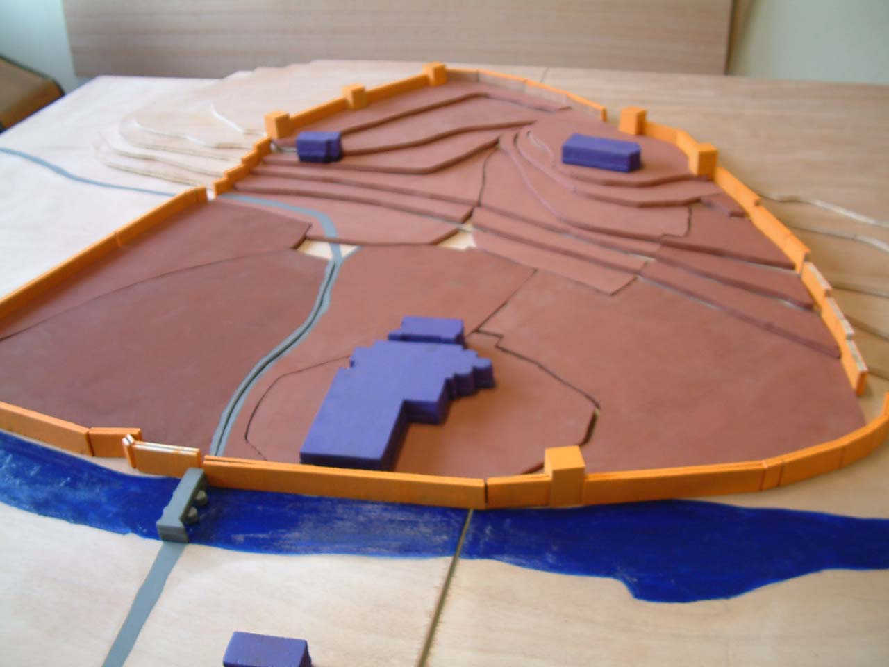 Les remparts de Figeac - Maquette de la ville au XVIIIe - SEGPA Figeac