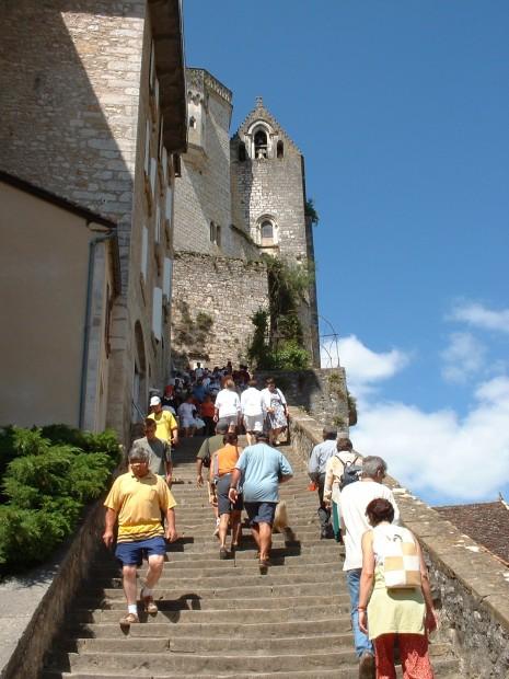 Rocamadour. Milieu du Grand Escalier - Auteur : Yann LESELLIER