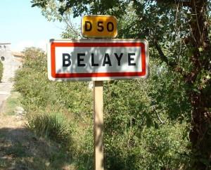 Panneau du village de Bélaye