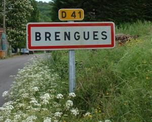 Panneau du village de Brengues