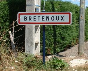 Panneau du village de Bretenoux