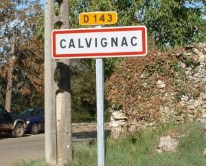 Panneau du village de Calvignac