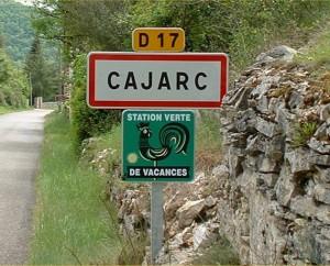 Panneau du village de Cajarc