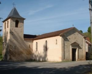 Église Saint-Saturnin à Camburat dans le Lot
