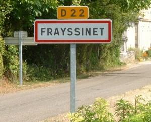 Panneau du village de Frayssinet