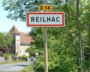 Panneau du village de Reilhac dans le Lot