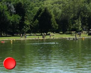 Point de baignade au Lac Vert à Catus dans le Lot