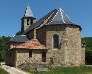 Église Saint-Dau à Figeac (Ceint d'Eau) dans le Lot