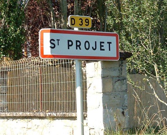 Panneau du village de Saint-Projet